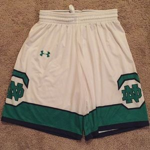 Under Armour women's Notre Dame shorts